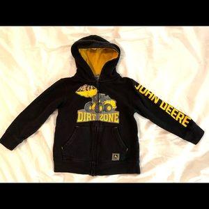 John Deere Tractor ZIP Hoodie Sweatshirt Hooded